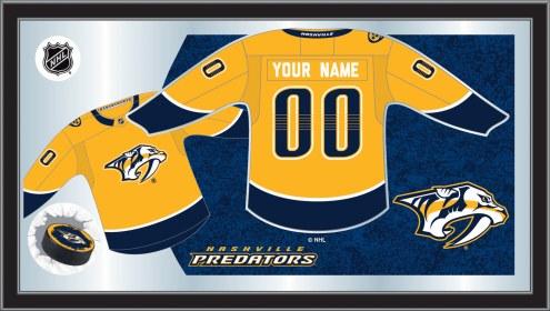Nashville Predators Personalized Jersey Mirror