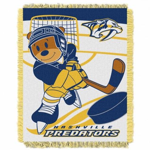 Nashville Predators Score Baby Blanket