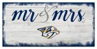 Nashville Predators Script Mr. & Mrs. Sign
