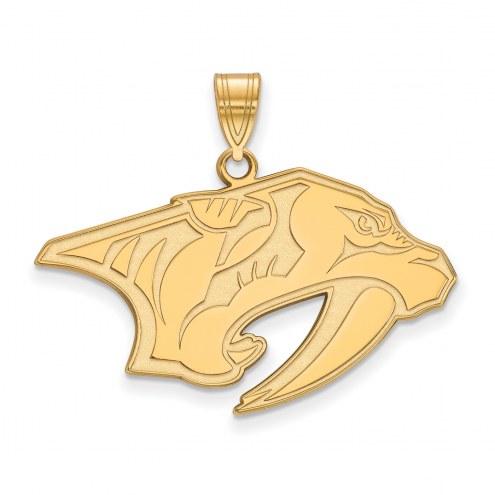 Nashville Predators Sterling Silver Gold Plated Large Pendant