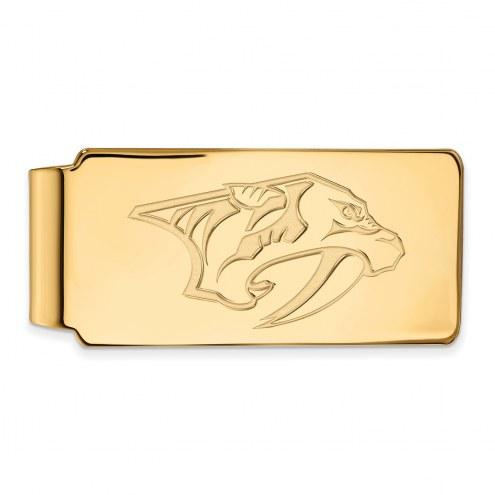 Nashville Predators Sterling Silver Gold Plated Money Clip