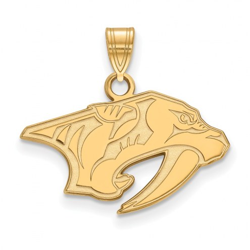 Nashville Predators Sterling Silver Gold Plated Small Pendant