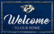 Nashville Predators Team Color Welcome Sign