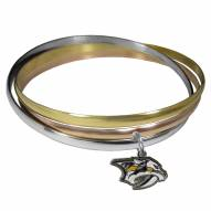 Nashville Predators Tri-color Bangle Bracelet