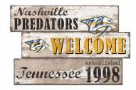 Nashville Predators Welcome 3 Plank Sign