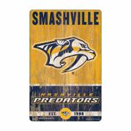 Nashville Predators Slogan Wood Sign