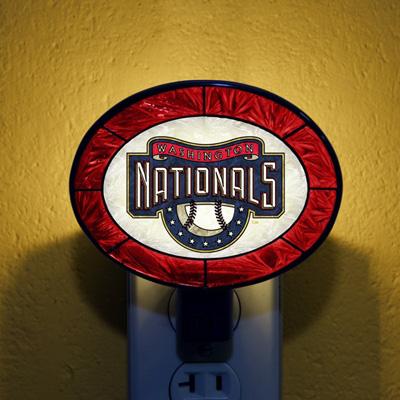 Washington Nationals MLB Stained Glass Night Light
