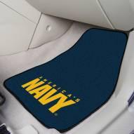 Navy Midshipmen 2-Piece Carpet Car Mats