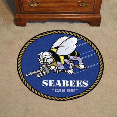 """Navy Midshipmen 44"""" Round Area Rug"""