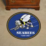 "Navy Midshipmen 44"" Round Area Rug"