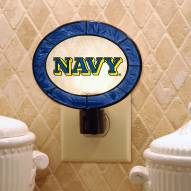 Navy Midshipmen Art Glass Night Light