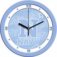 Navy Midshipmen Baby Blue Wall Clock