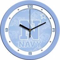 Navy Midshipmen Baby Blue Wall Clock