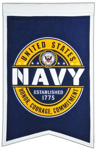 Navy Midshipmen Badge Blue Banner