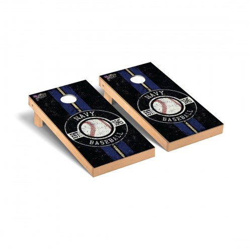 Navy Midshipmen Baseball Vintage Cornhole Game Set