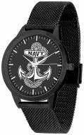Navy Midshipmen Black Dial Mesh Statement Watch