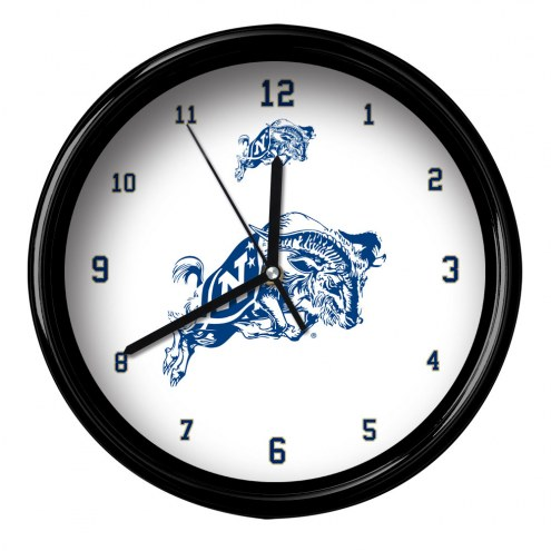 Navy Midshipmen Black Rim Clock