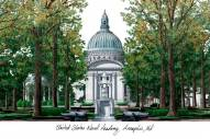 Navy Midshipmen Campus Images Lithograph