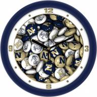 Navy Midshipmen Candy Wall Clock