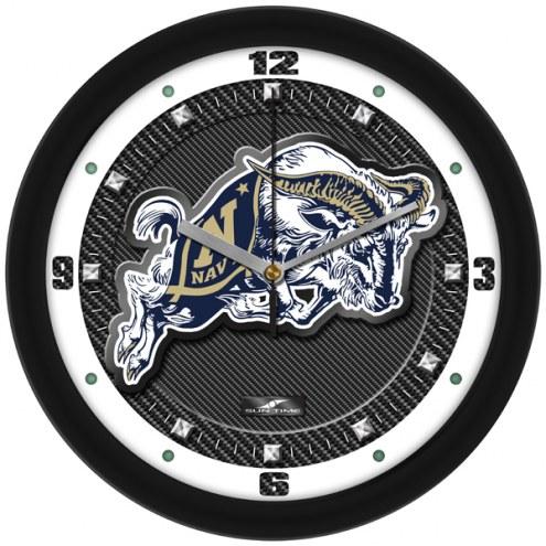 Navy Midshipmen Carbon Fiber Wall Clock