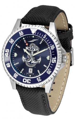 Navy Midshipmen Competitor AnoChrome Men's Watch - Color Bezel