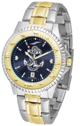 Navy Midshipmen Competitor Two-Tone AnoChrome Men's Watch
