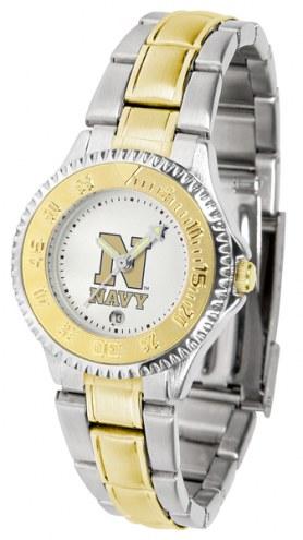 Navy Midshipmen Competitor Two-Tone Women's Watch