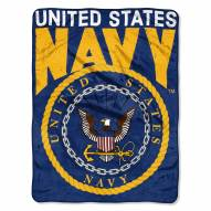 Navy Midshipmen Enlarge Raschel Blanket