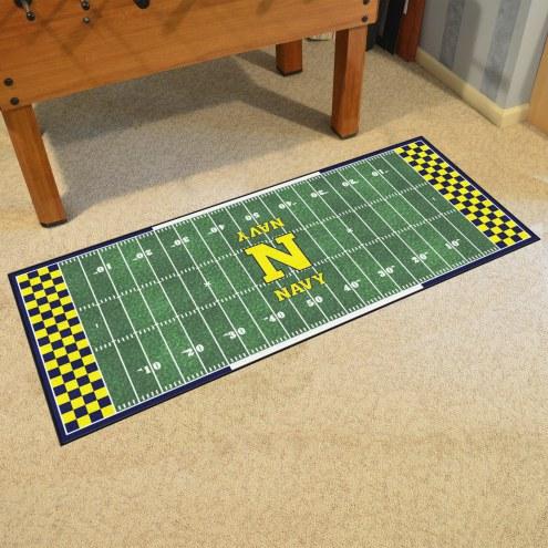 Navy Midshipmen Football Field Runner Rug