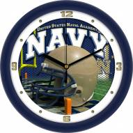Navy Midshipmen Football Helmet Wall Clock