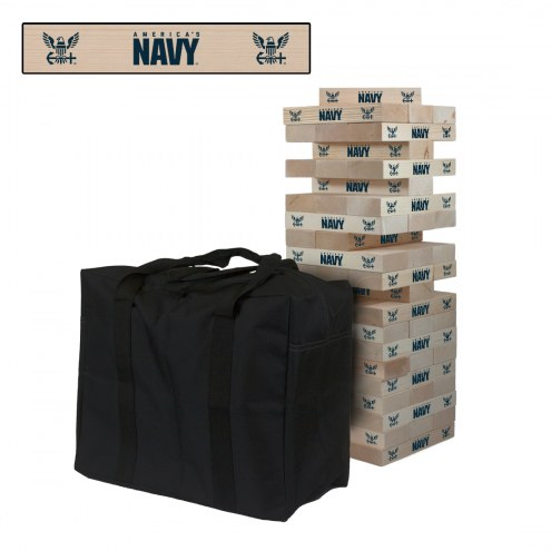 Navy Midshipmen Giant Wooden Tumble Tower Game