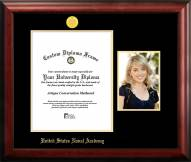 Navy Midshipmen Gold Embossed Diploma Frame with Portrait