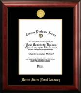 Navy Midshipmen Gold Embossed Diploma Frame