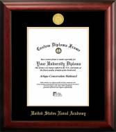 Navy Midshipmen Gold Embossed Diploma Frame