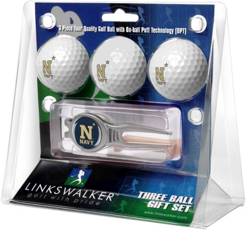 Navy Midshipmen Golf Ball Gift Pack with Kool Tool