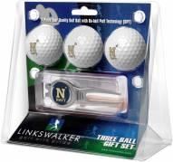 Navy Midshipmen Golf Ball Gift Pack with Kool Tool