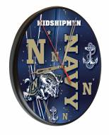Navy Midshipmen Digitally Printed Wood Clock