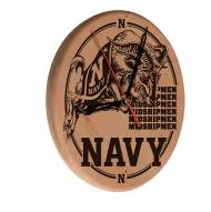 Navy Midshipmen Laser Engraved Wood Clock