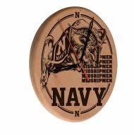 Navy Midshipmen Laser Engraved Wood Clock
