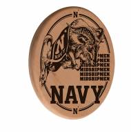 Navy Midshipmen Laser Engraved Wood Sign