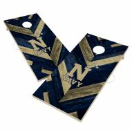 Navy Midshipmen Herringbone Cornhole Game Set