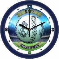 Navy Midshipmen Home Run Wall Clock