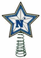 Navy Midshipmen Light Up Art Glass Tree Topper