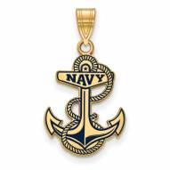 Navy Midshipmen Sterling Silver Gold Plated Large Pendant