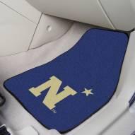 "Navy Midshipmen ""N"" 2-Piece Carpet Car Mats"