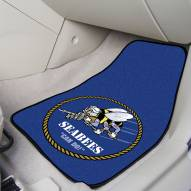 Navy Midshipmen NCAA 2-Piece Carpet Car Mats