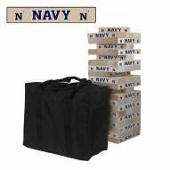 Navy Midshipmen NCAA Giant Wooden Tumble Tower Game