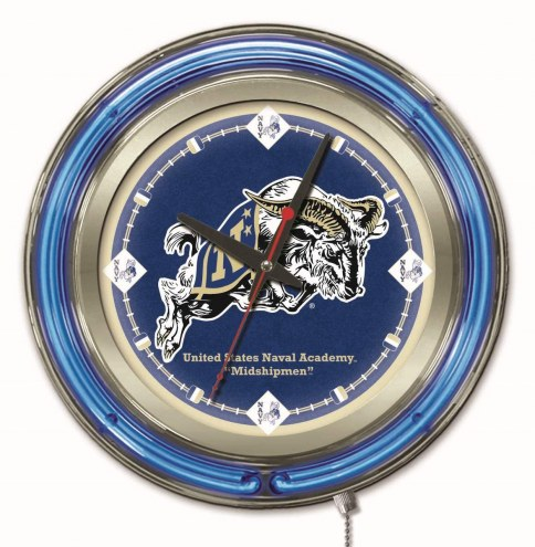 Navy Midshipmen Neon Clock