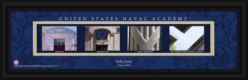 Navy Midshipmen Personalized Campus Letter Art
