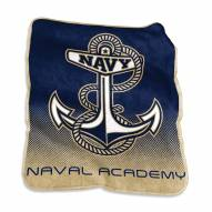 Navy Midshipmen Raschel Throw Blanket